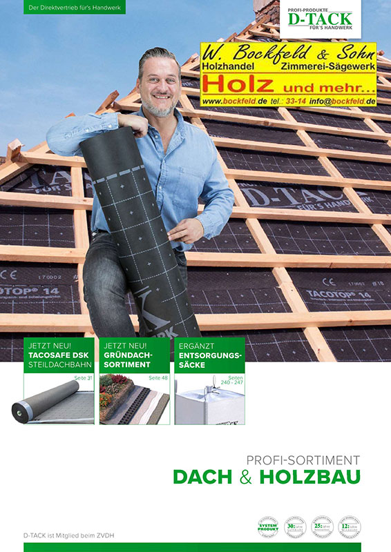 d tack profil sortiment dach holzbau - Kataloge