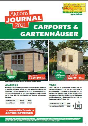 Joda Aktion CARPORT GARTENHAUS 2021 wbs seite1 - Kataloge
